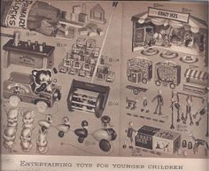 Toys from the 1951-52 Montgomery Ward fall winter catalog