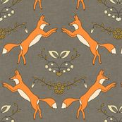foxen fabric by holli_zollinger for sale on Spoonflower - custom fabric, wallpaper and wall decals