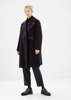 Yohji Yamamoto Wrap Belt Coat (Black)