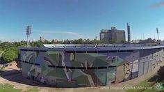 Video aéreo del Estadio Centenario, Montevideo