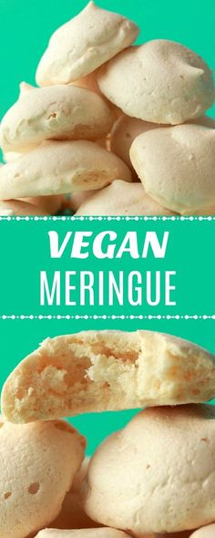 Light, airy and perfectly sweet vegan meringue cookies. Cute and fun and made with chickpea aquafaba resulting in totally perfect meringue! | lovingitvegan.com