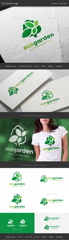 Eco Garden Tree logo - Nature Logo Templates Download here : http://graphicriver.net/item/eco-garden-tree-logo/15772563?s_rank=144&ref=Al-fatih