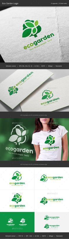 Eco Garden Tree logo - Nature Logo Templates Download here : http://graphicriver.net/item/eco-garden-tree-logo/15772563?s_rank=144&ref=Al-fatih