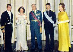 Albert Prince of Liege , Fabiola Queen of the Belgians, King Gustaf VI Adolf of Sweden, Baudouin  King of the Belgians and Paola Princess of Liege.
