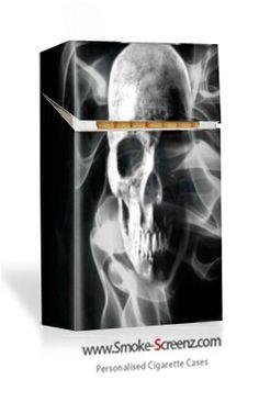 Smoking Skull cigarette case design