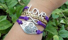Love bracelet infinity bracelet boys and girls by jewellrydesign, $9.99