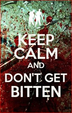 Keep Calm and don't get bitten - TWD