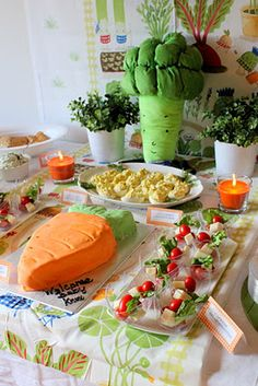 I just love the fact that the cake is shaped like a carrot.  SMELLIN COFFEE: IKEA Veggie Garden Baby Shower