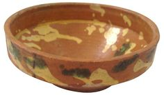 One Kings Lane - Home for the Holidays - Glazed European Pottery Bowl