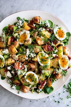 Can we get a YEE HAW for this Celery Slaw! 🤠 easy slaw is sporting jammy eggs, crispy potatoes, and bacon, so it's definitely a winner! saludables ideas Jammy Eggs, Crispy Potatoes and Bacon Celery Slaw recipe Slaw Recipes, Healthy Recipes, Punch Recipes, Sweets Recipes, Healthy Nutrition, Healthy Eating, Nutrition Articles, Breakfast Recipes, Side Dishes