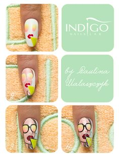 by Paulina Walaszczyk Indigo Educator! Step by step! Follow us on Pinterest. Find more inspiration at www.indigo-nails.com #nailart #nails #indigo #tutorial #step #icon