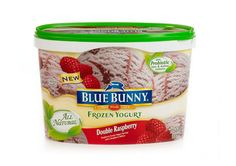 Blue Bunny Double Raspberry All Natural Frozen Yogurt  http://www.prevention.com/food/smart-shopping/49-best-ready-to-eat-foods/slide/49