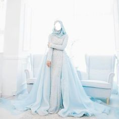 56 ideas for wedding gown hijab brides Hijab Prom Dress, Hijab Gown, Muslimah Wedding Dress, Muslim Wedding Dresses, Dream Wedding Dresses, Bridal Dresses, Bridesmaid Dresses, Muslim Gown, Muslim Wedding Gown