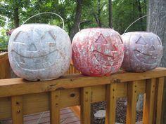 Turn Those Plastic Pumpkins Into Stone!