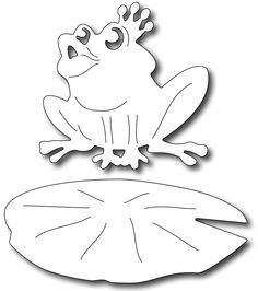 Frantic Stamper Precision Die - Frog Prince (set of you just want to kiss him? Our frog prince measures approx The lilypad measures 3 Diy And Crafts, Paper Crafts, Frantic Stamper, Scroll Saw Patterns, Craft Shop, Digi Stamps, Kirigami, Painting For Kids, Folded Cards