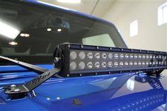 """Rock Hard 4x4 20"""" LED Light Bar Hood Mount for Jeep Wrangler JK 2/4DR 2007 - 2015"""