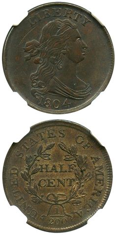 David Lawrence Rare Coins has this this item on Collectors Corner - 1804 1/2C Crosslet 4, No Stems MS61BN NGC