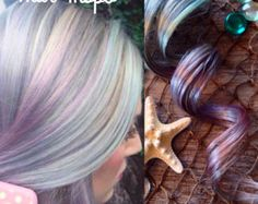 VIOLET PURPLE 100% Human Hair Extensions : by WithYourFlyingColors