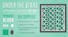 under the stars quilt from The Missouri Star Quilt Company blog!!!
