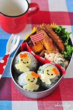 てるてる坊主のお弁当  #Charaben #Kyaraben #Bento