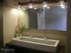 Lighting Design for Bathrooms Bathroom Mirror Lights, Mirror With Lights, Jacuzzi Bathtub, Powder Room Design, Design Basics, Shower Panels, Light Design, Stone Flooring, Modern Bathroom