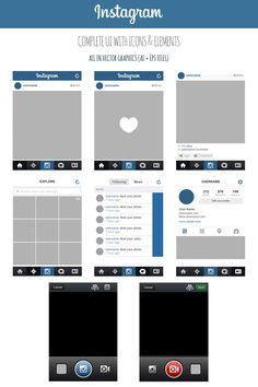 FREE Instagram Complete Vector UI by MarinaD.deviantart.com on @deviantART