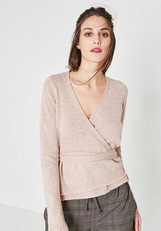 79e7853cb849 Mode · Cache-coeur irisé Femme - Rose - Pulls et gilets - Femme - Promod