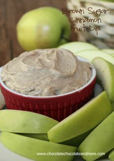 Brown Sugar Cinnamon Fruit Dip from Chocolate, Chocolate and more #snack #fruit #dip #apple