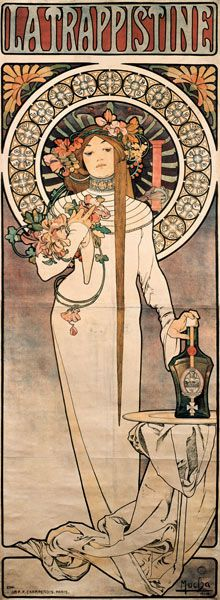 The Trappistine, Alphonse Mucha.  Plakat-La-Trappistine.jpg  just stunning when it's a print as tall as you..