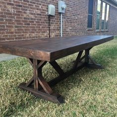 why pay a big box store for a table made out of metal or plastic that will rust or break in one season. these tables are made out of solid wood and treated with uv resistant and waterproofing. they come in your choice of stain colour and any size within reason. benches start at $285 tables at $875