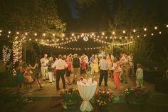 outdoor dance floor & lighting | The Twenty Mile House, Cromberg, CA