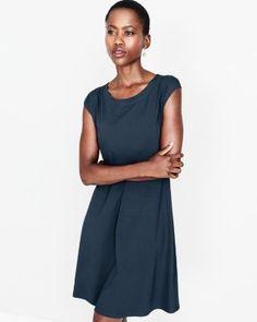 Love Eileen Fisher Viscose Jersey Empire-Seam Dress