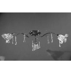 ΦΩΤΙΣΤΙΚΟ ΟΡΟΦΗΣ 3Φ 1034CD-3 G9 INOX ΜΕ ΓΥΑΛΙ ΛΕΥΚΟ & ΚΡΥΣΤΑΛΛΑ  - 86,50 Decor, Light, Lighting, Ceiling, Home Decor, Chandelier, Ceiling Lights