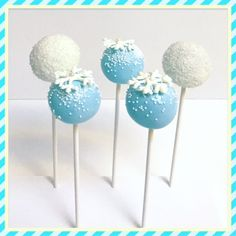 Snowflake and Snowball Cake Pops