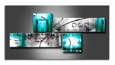 Extra Large Painting, Bedroom Wall Art, Abstract Art Set, 4 Piece Abst – Art Painting Canvas Panel Wall Art, Canvas Wall Art, Contemporary Abstract Art, Modern Art, Extra Large Wall Art, Large Painting, Painting Art, Art Abstrait, Colorful Paintings