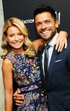 """""""Live! with Kelly and Michael"""" host Kelly Ripa and actor Mark Consuelos met on the set of the now-defunct ABC soap opera """"All My Children,"""" when he was cast as her love interest. The couple were married in 1996 and went on to have three kids."""