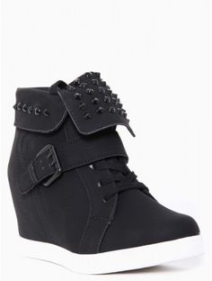 Foldover Spike Sneaker Wedges - Wow I love these! tyles for Less (size 7.5-8) ;)