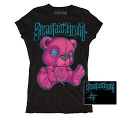 Womens Junior Stitched by Jime Litwalk Tattoo Art Teddy Bear T Shirt Rockabilly Outfits, Rockabilly Clothing, Teddy Bear Design, Tattoo Clothing, Tattoo T Shirts, Bear T Shirt, Tees For Women, Alternative Outfits, Me Too Shoes