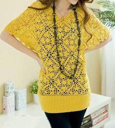 Citrine Crochet Top