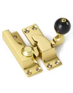 Security Sash Window Lock Lever Zinc-Brass Plated with Fixings Twist Arm Catch
