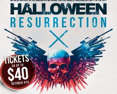 HALLOWEEN RESURRECTION 2016  #Halloween2016👻🎃💀 Halloween Resurrection, Sell Tickets, Halloween 2016, Live Events, Selling Online, Shit Happens, Create, Movie Posters, Film Poster