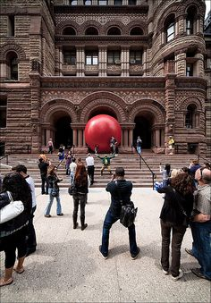 Red Ball at City Hall, Toronto, Canada