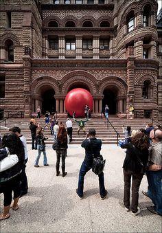 Red Ball at City Hall, Toronto, Canada