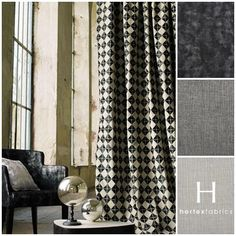 color of walls and curtains Collection Casamance Monographie How To Make Curtains, Made To Measure Curtains, Hertex Fabrics, Rideaux Design, Casamance, House Blinds, Curtain Designs, Curtain Ideas, Drapes Curtains