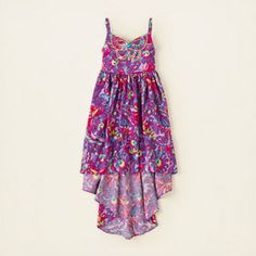 girl dresses rompers butterfly hi-low dress