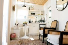 Though it isn't a permanent residence, it still offers up plenty of inspiration for others living in tiny spaces! Especially since the couple took so much time considering the layout and functionality of the space.