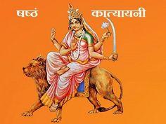 The sixth avatar of Goddess Durga Katyayani worshiped on sixth day during the Navratri celebrations, read all important information about Maa Katyayani. Durga Images, Lakshmi Images, Durga Ji, Durga Goddess, Vedic Horoscope, Astrology, Nav Durga Image, Maa Durga Photo, Happy Navratri Images
