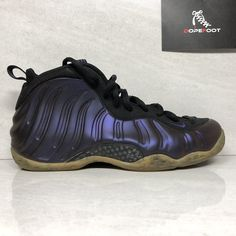 68b9558668431 Nike Air Foamposite One Eggplant Size 9.5 Black 314996 051