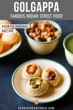 One very popular street food in Indian is known by many names depending on the area of India you are in; this is golgappa or panipuri. This North Indian recipe is about the same as the South Indian pani puri but does have some differences that distinguish it, such as different vegetables in the stuffing and different spices. Try this delicious recipe for one of India's famous street foods tonight! #streetfood #NorthIndianfood #snacks #vegetarian #vegan