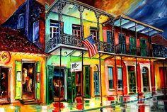 New Orleans artist Dianne Milsap--Down on Bourbon Street